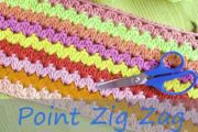 Point zig zag tricot