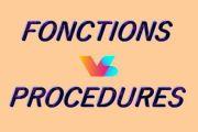 Fonctions et procédures