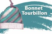 Tricoter un bonnet tourbillon