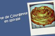 Tarte de courgette en spirale