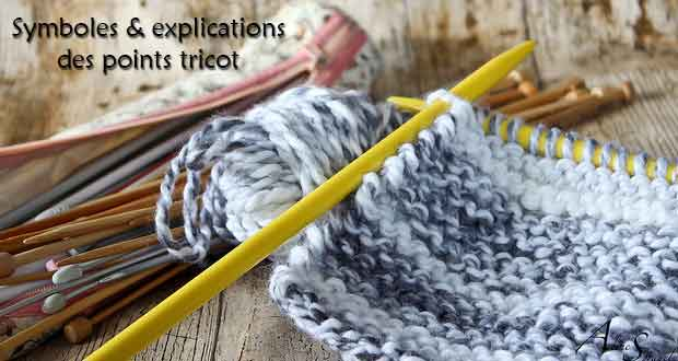 Symboles et explications des points tricot